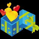 иконки подарок, сердце, gift, hearts,