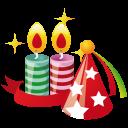 иконка свеча, свечи, пати, колпак, party, hat, candles,