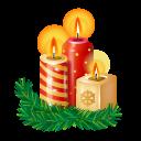иконки новогодняя свеча, рождественские свечи, candles,