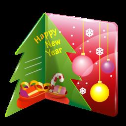 иконка рождественская открытка, новогодняя открытка, новый год, рождество, christmas, card,