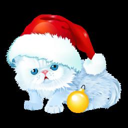 иконка котенок, кот, новый год, new year,