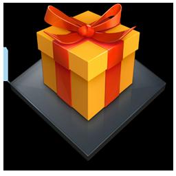 иконки подарок, коробка,