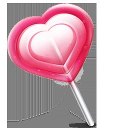 иконки леденец, сердце, конфета,