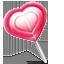 иконка леденец, сердце, конфета,