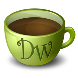 иконка dreamweaver, coffee,