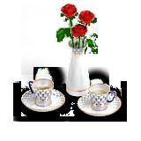 иконки сервиз, еда, розы, роза, чай, кофе, чаепитие, свидание,