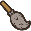иконки метла, хэллоуин, broom,