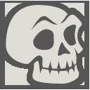 иконка череп, хэллоуин, skeleton,