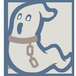 иконка приведение, ghost,