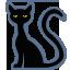 иконка кот, черный кот, черная кошка, хэллоуин, cat,