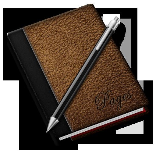 иконки записная книга, заметки, записная книжка, pages,