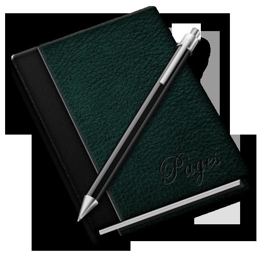 иконка заметки, записная книжка, ежедневник, pages,