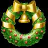 иконка венок, новый год, рождество, украшение, wreath,