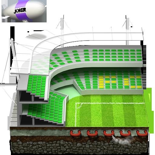 иконки спорт, стадион, дирижабль,