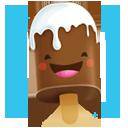 иконки шоколадное мороженное, crema,