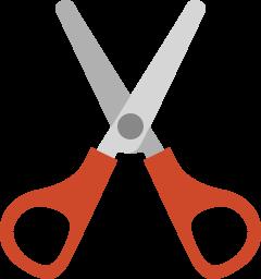 иконки ножницы, вырезать, резать, порезать,