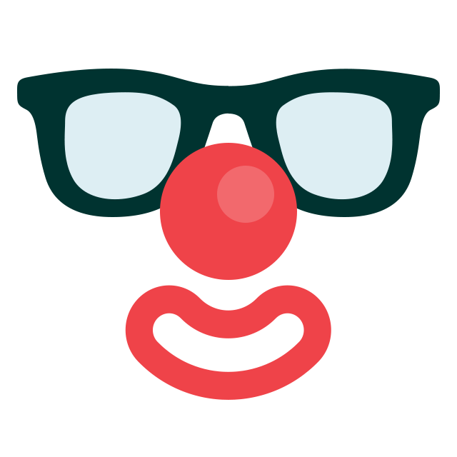 иконка клоун, маска,