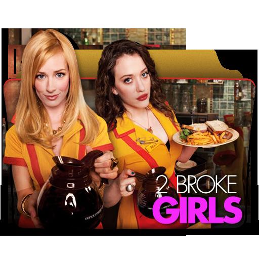 иконки 2 broke girls, папка, folder,