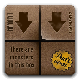 иконки  download, загрузки, коробка,