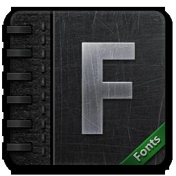 иконки fontbook,