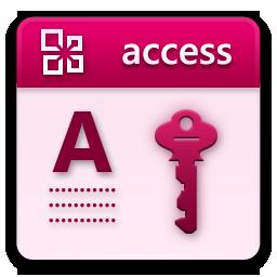 иконка microsoft access,