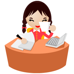 иконки office, women, женщина, офисный работник,