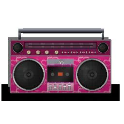 иконка boombox, магнитофон,