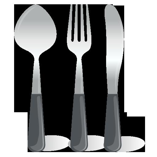 иконки столовые приборы, вилка, ложка, нож,