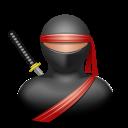 иконки ninja, ниндзя, человек,
