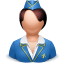 иконки airhostess, стюардесса, женщина, человек,