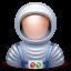 иконка astronaut, астронавт, космонавт, человек,