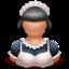 иконки maid, горничная, прислуга, девушка, женщина,