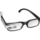 иконка google glasses, google glass, очки,