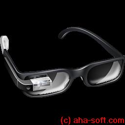 иконка google glasses, google glass,