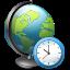 иконки network time, мировое время, глобус, часы,