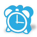 иконка часы, будильник,