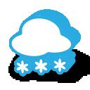 иконка погода, снег,