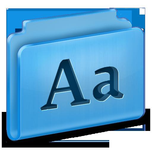 иконки fonts, шрифты, папка, folder,