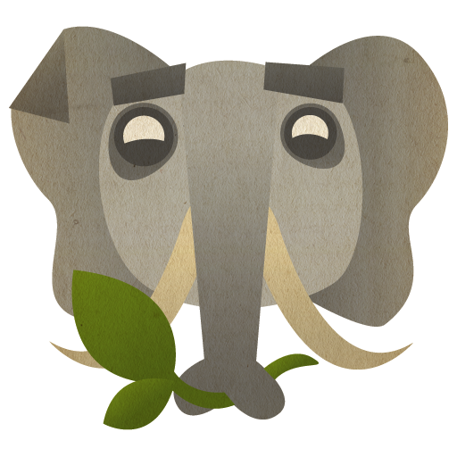 иконки evernote, слон, животные,