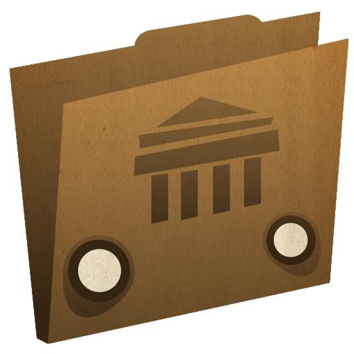 иконки folder, library, библиотека, папка,