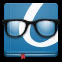иконка okular, очки, книга,