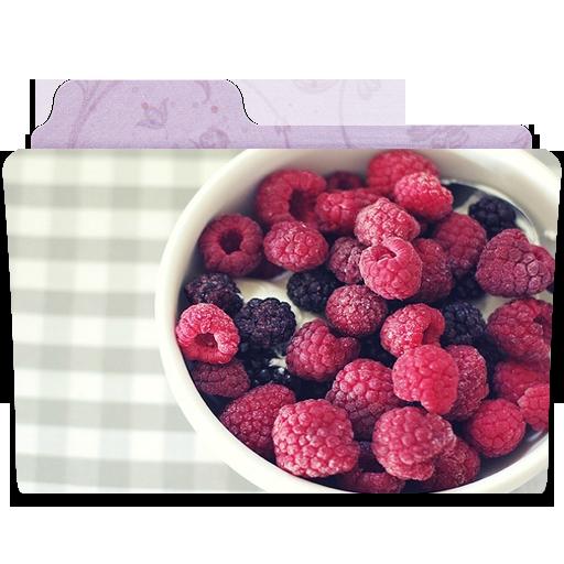 иконка frambuesas, папка, ягоды,