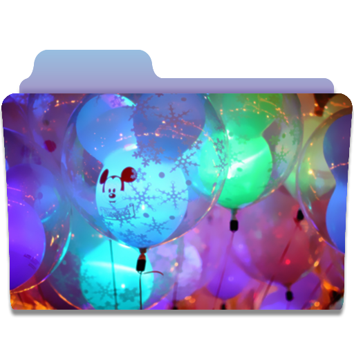 иконки balloons, шарики, папка,