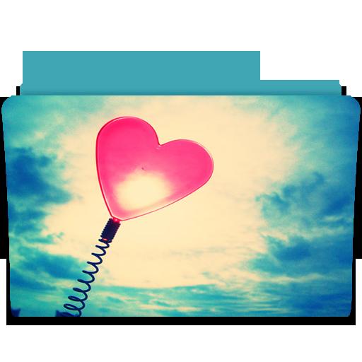 иконки heart, сердце, папка, любовь,