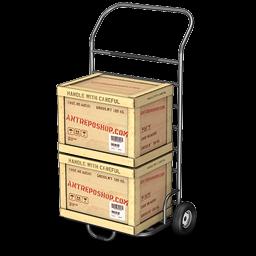 иконки handle, ящик, ящики, тележка, перевозка,
