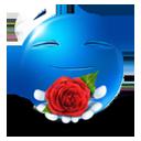 иконки смайл, смайлик, роза, цветы, подарок,