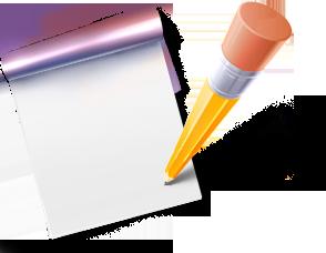 иконки blog, блог, блокнот, карандаш,