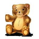 иконка teddy, игрушка, медведь, мишка,