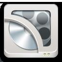 иконка handbrake, диск,