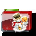 иконки christmas, папка, новый год, рождество, снеговик,